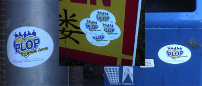Overal PLOP stickers